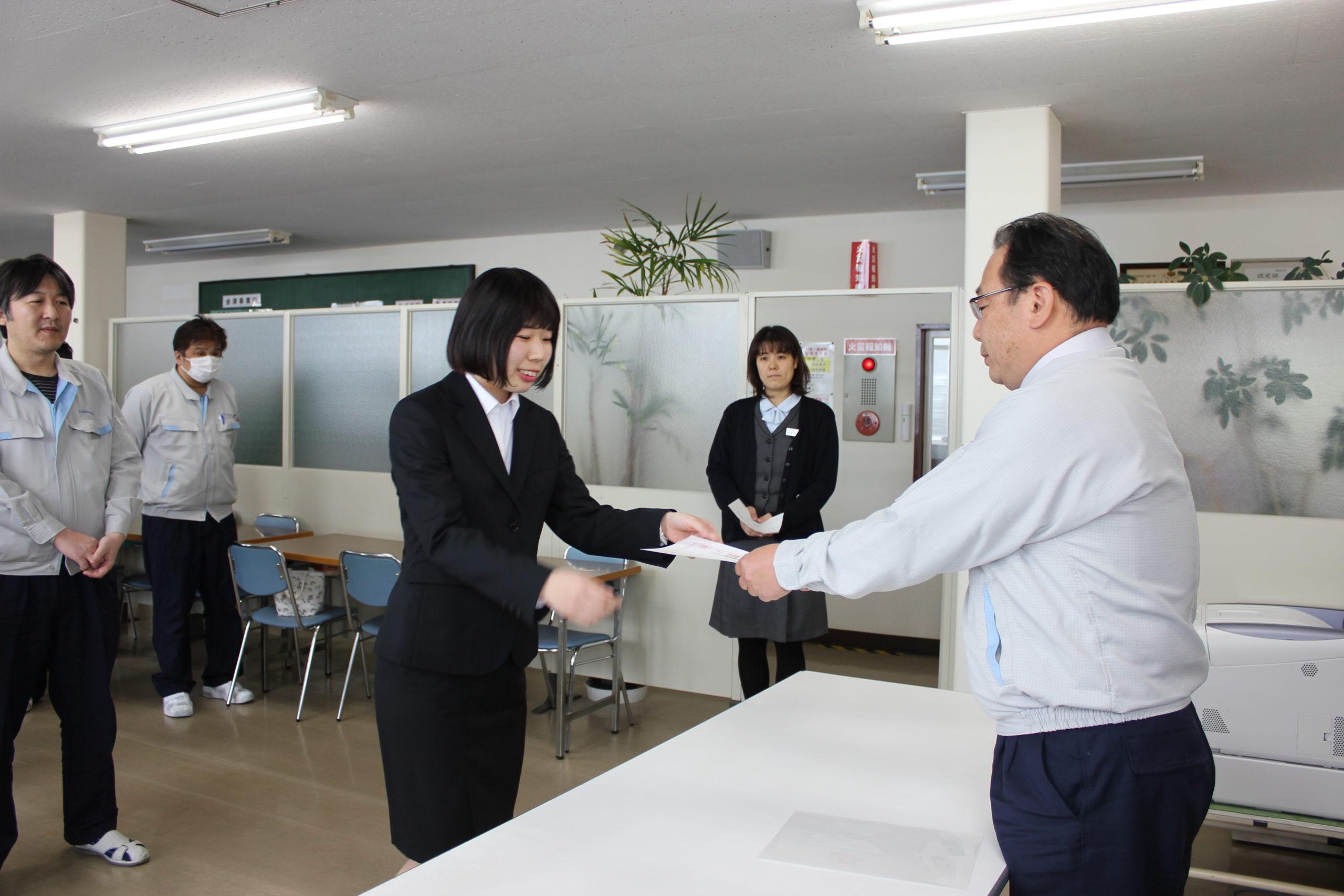 ヤマキ電気福島株式会社 会津事業所 入社式